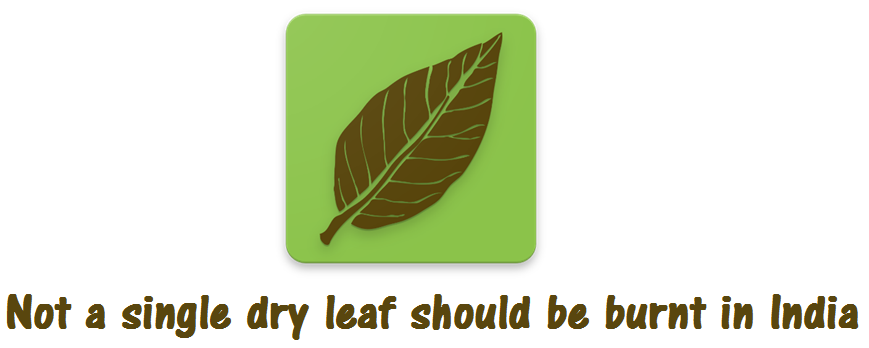 Not a single dry leaf should be burnt in India!