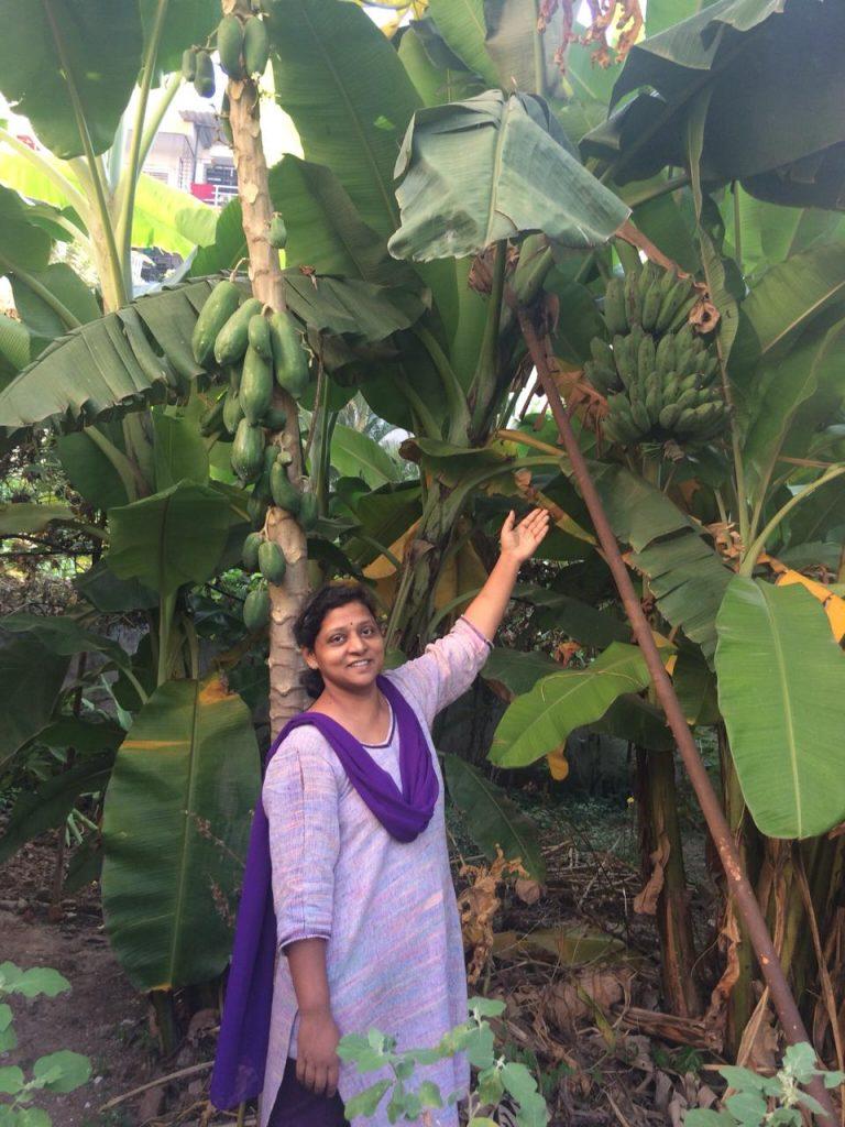 Suajata Naphade with her garden